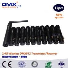 Бесплатная доставка DHL DMX антенны беспроводной передатчик DMX приемник беспроводной передачи сигнала