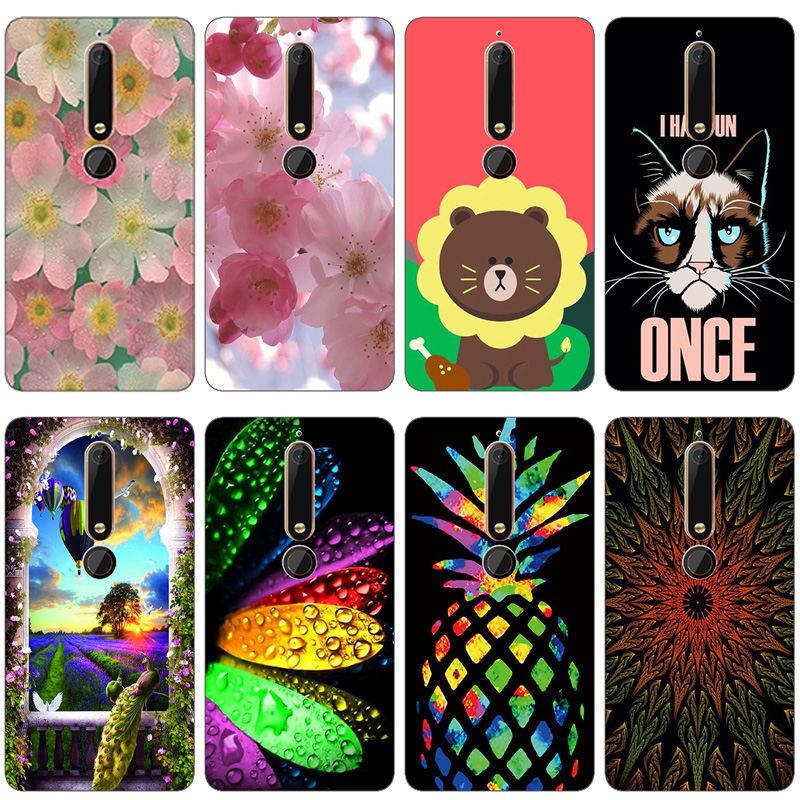 For Case Nokia 6 (2018) / Nokia 6.1 Cover Silicone TPU Luxury Bag For Nokia 6.1 Case 3D Flower Cute For Nokia 6 2018 Phone Cases