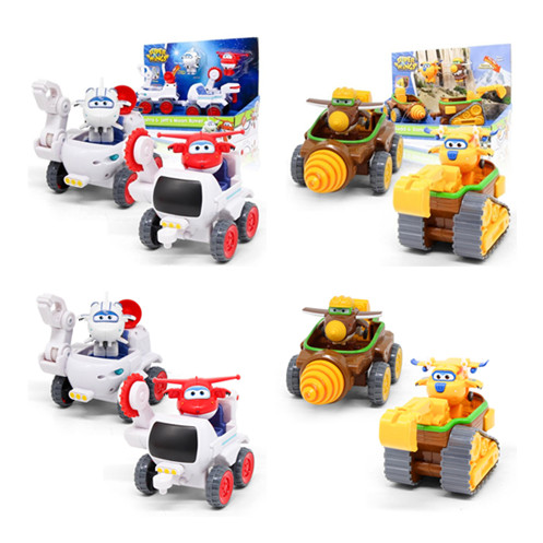2pcs set Transformation Super Wings Todd Donnie Dig Rig Robot Action Figures Super Wing Deformation Astra