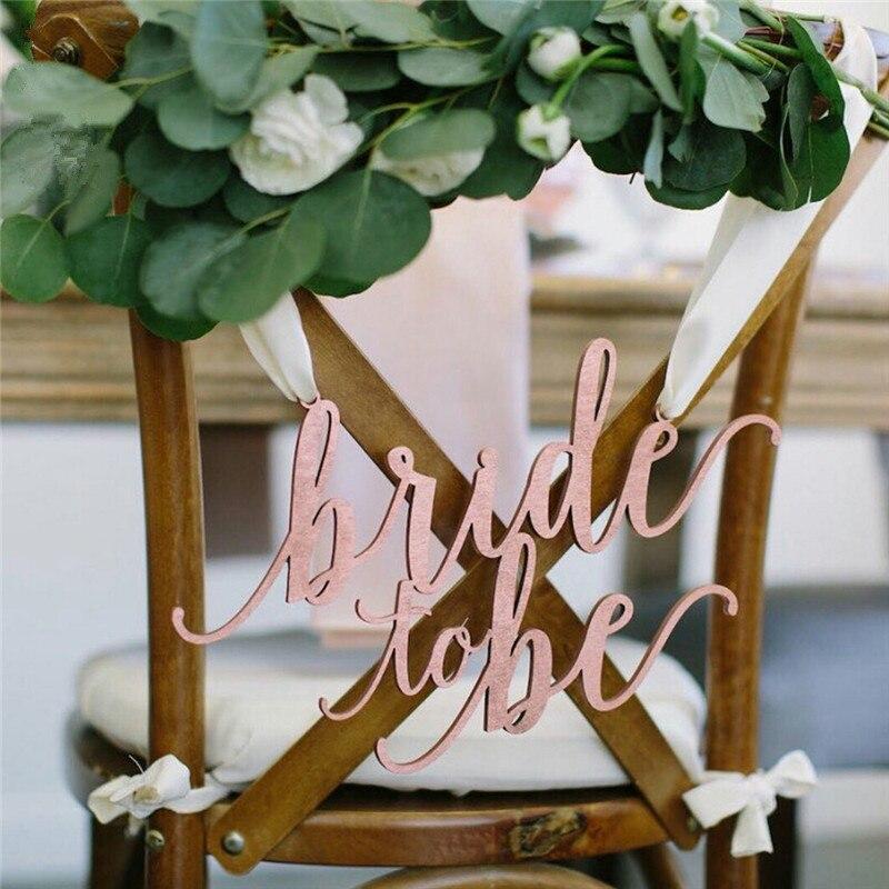 Wooden Mr Mrs Wedding Chair Sign Bride Groom Hanging Chair Sign Custom Wedding Decoration Rustic Wedding Dcor
