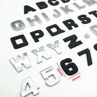diy car 25mm DIY Letters Alphabet Emblem Chrome Car Stickers Digital Badge Automobiles Logo 3D Metal Car Accessories Motorcycle Sticker (1)