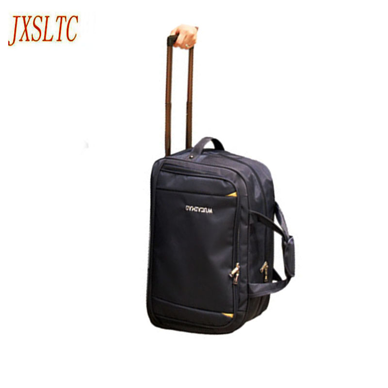 Jxsltc New Waterproof Luggage Bag Thick Style Rolling Suitca