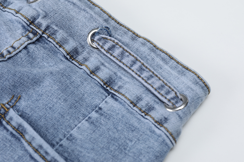 Nueva Alta De 2019 Moda Azul Tobillo Longitud gris Cuerda Vaqueros Denim Pantalones Mujeres Cintura Lápiz Los Con Delgado SdRnqpw