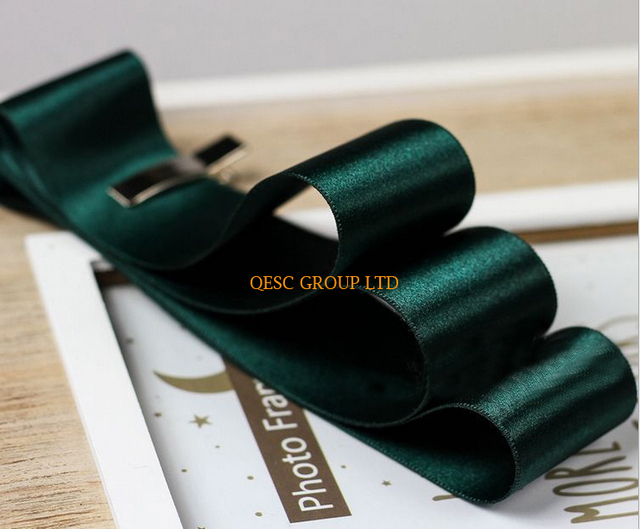 Dark green 4cm Satin ribbon satin fabric for sinamay fascinator hair  accessory dress hat bag clothes 6d6cca6ba28