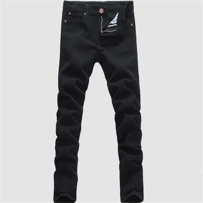 Man jeans new 2017 spring autumn Leisure Slim Wild Fashion men black jeans Feet Straight cowboy trousers Free Shipping