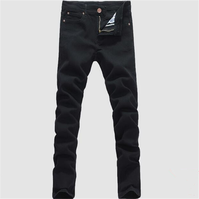 Man jeans new 2017 spring autumn Leisure Slim Wild Fashion men black jeans Feet Straight cowboy trousers Free Shipping
