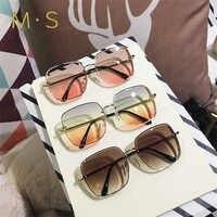 MS 2019 Neue Marke Designer Sonnenbrille frauen Übergroßen Weiblichen Sonne gläser Für Frauen UV400