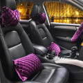 queen car pillow Tournure automotive interior diamond   Purple  princess car  girl waist pneck pillow Ms. Seat Supports