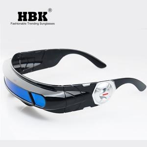 Image 3 - Hbk x man 레이저 사이클롭스 선글라스 디자이너 특수 메모리 재료 편광 된 여행 쉴드 쿨 선글라스 uv400 pc k40021