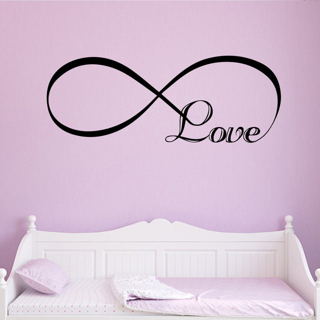 Romantic Love Wall Sticker For Living Room Bedroom decal Decoration accessories Stickers Sweet Home girls room mural Wallpaper
