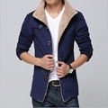 2016 winter Men High Quality Wool Trench Coat Men's woolen Cloth Coat Thickness single Breasted Windbreaker Long Jacket DFBTC002