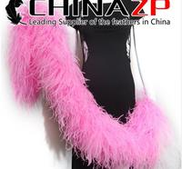 ZPDECOR 2 Yards/Lot 40g Sexy Soft Red carnival Marabous Feather Boas Costumes for Women
