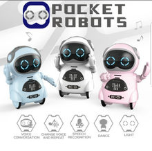 Mini Pocket Robot Multi-Functional Voice Dialogue Light Dance Robot Toy Kids Gift(China)