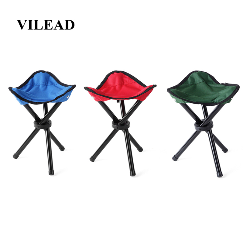 VILEAD 30cm Height Outdoor Fishing Chair Lightweight Portable Tripod Stool Folding Chair For Camping Hiking Picnic Garden BBQ-in Camping Stools from Sports & Entertainment