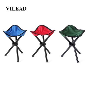 VILEAD 30cm wysokość odkryty krzesło wędkarskie lekki przenośny statyw stołek składane krzesło na Camping piesze wycieczki piknik ogród BBQ tanie i dobre opinie army green red blue 30*21*21 cm 36*7*7 cm 16 mm steel pipe 600D Oxford cloth Picnic Camping hiking 280 g 30 cm 80 kg Stable Portable Folding