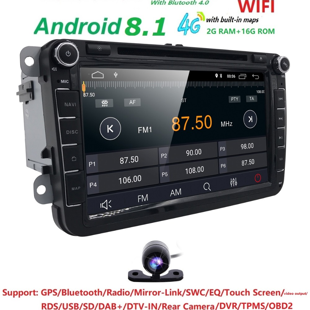 Hizpo 2 DIN Android Car Radio Stereo Player Tape Recorder For Skoda Octavia 2009-2012 Fabia Roomster Yeti Superb DTV-IN DAB+ OBD isudar car multimedia player automotivo gps autoradio 2 din for skoda octavia fabia rapid yeti superb vw seat car dvd player