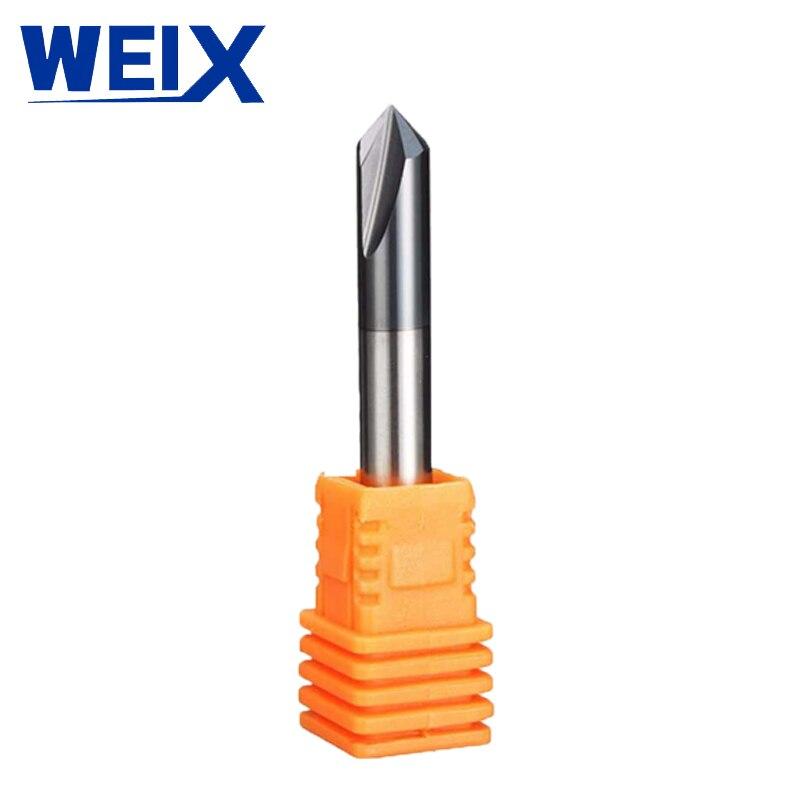 רשימת הקטגוריות 1pc WEIX 3 חלילים HRC45 chamfer End Mill זווית 90 עבור נתב פלדה Bit קרביד כלי חותכני הטחינה Mayitr טונגסטן פלדה (1)