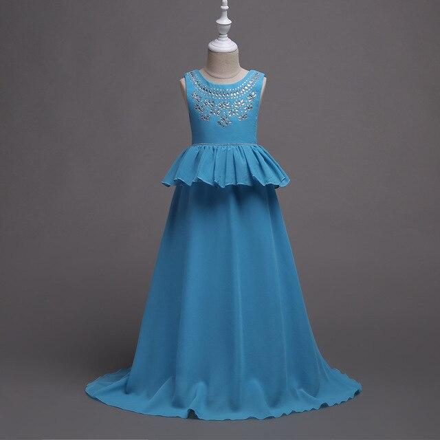 4 16 Years Long Princess Party Dresses Wedding Elegant Chiffon ...