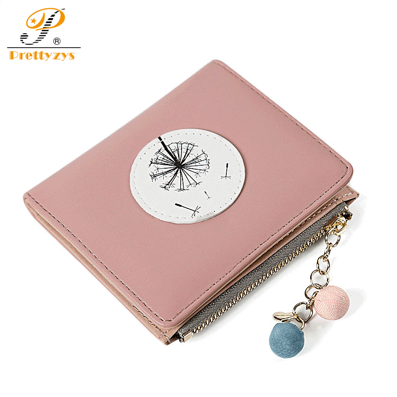 Prettyzys 2017 New Ladies Wallet Women Wallets and Purses Leather Card Holder Coin Pendant Cute Short Slim Small Perses Money vintage women short leather wallets stylish wallet coin card pocket holder wallet female purses money clip ladies purse 7n01 18