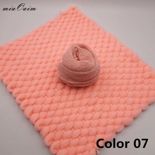 Handmade Blanket(45*40cm)with High Streched Wraps(Full Set)for Newborn Baby Photography Props Top Layer Basket Filler Show Gift