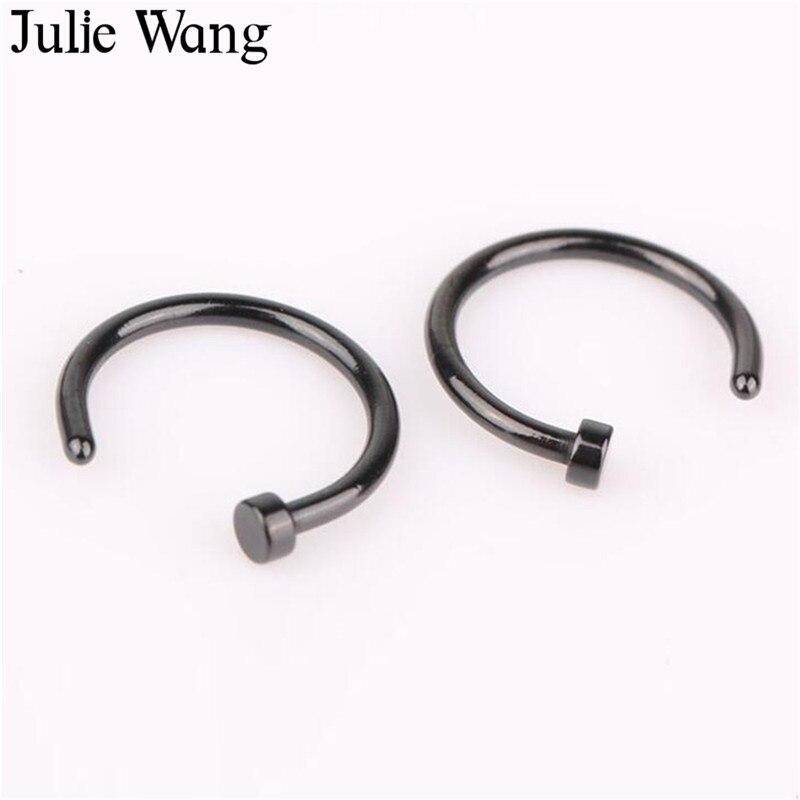 Julie Wang 5pcs 6mm 8mm 10mm Titanium Steel Mixed Colors Fake Nose