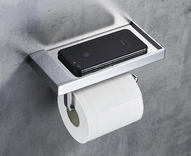 Badkamer Accessoires Goud : Mode toiletrolhouder roll tissue holder massief messing goud