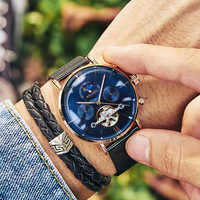 AILANG Top Mens Watches Top Brand Luxury Automatic Mechanical Watch Men Full Steel Business Waterproof Fashion Sport Watches