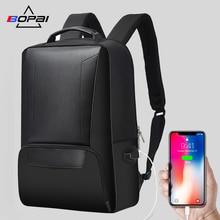 Купить с кэшбэком BOPAI Anti-thief USB Charging 15.6inch Laptop Backpack for Men Travel Backpack Waterproof School Backpack Bag for Male Mochila