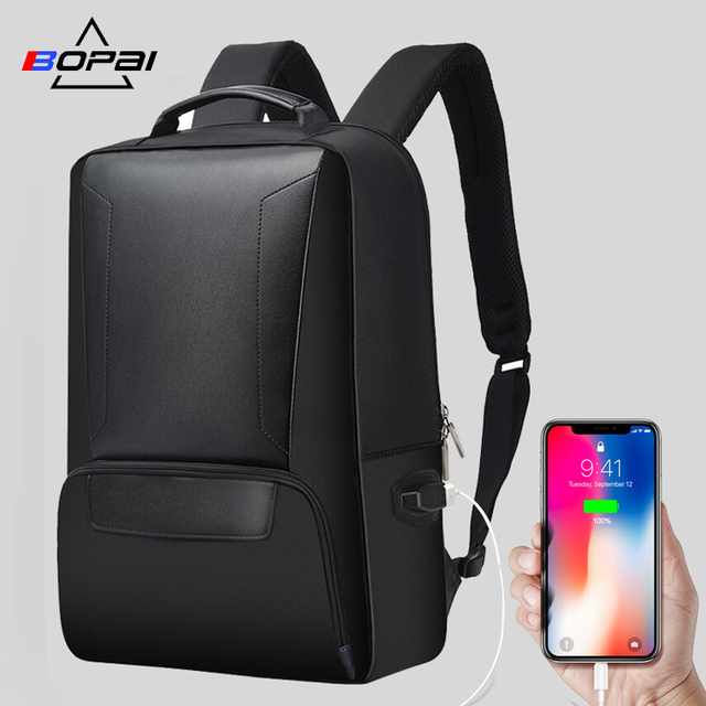 BOPAI Anti-thief USB Charging 15.6inch Laptop Backpack for Men Travel Backpack Waterproof School Backpack Bag for Male Mochila