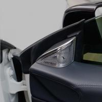 For Mercedes Benz CLA C117 Car Styling Car door Loudspeaker Sticker Audio Stereo decorative Cover Car Interior Trim Accessories