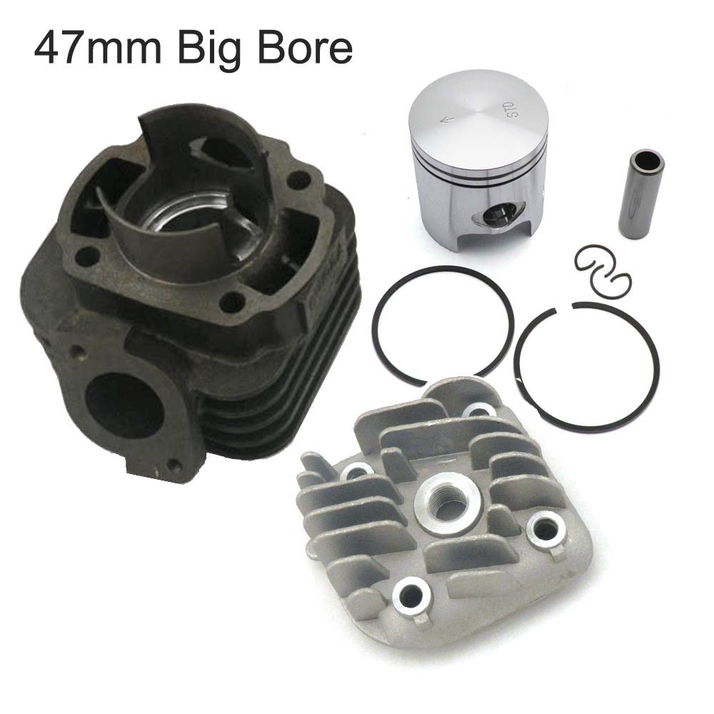 70cc 2 Stroke 47mm Big Bore Cylinder and Head with 10mm