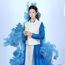 5038c1bef Lin YuXi Ming Dynasty Doctress Simple Elegant Embroidery Costume Hanfu for  Latest TV Play Royal Highness