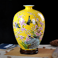 Jingdezhen ceramics masters hand painted famille rose vase Chinese living Home Furnishing handicrafts