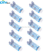 цена на 10pcs/lot LM393 Slot-type 4Pin Optocoupler Speed Sensor Measuring Module for Arduino Raspberry Pi