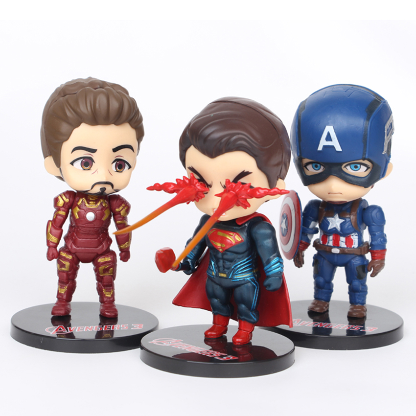 6 pieces/set Cute The avengers Action Figures model  toy gift for children Cute Car ornaments Super hero long cable winder cute cartoon animal headphone earphone organizer wire holder action toy figures set