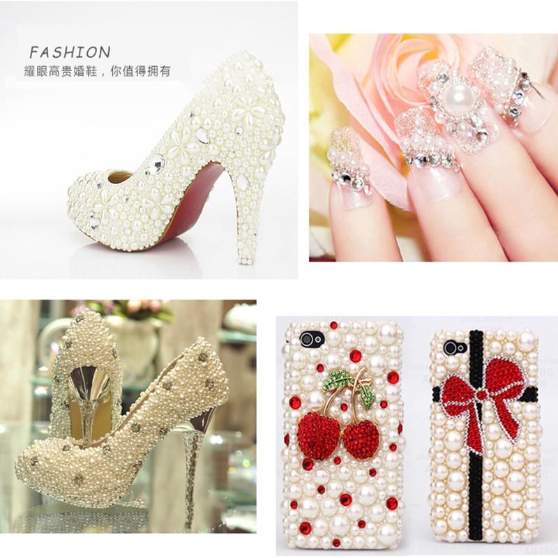 Материал:: Акрил; декор ногтей; 10мм стеклянная бусина; Штраф или моды: Мода;