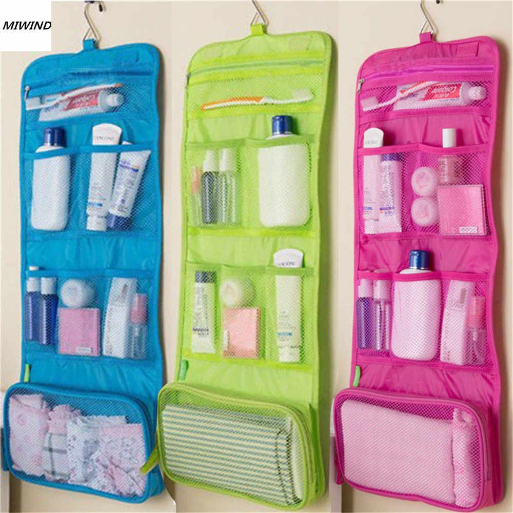 04f2932268d4 Висячая дорожная косметическая сумка для туалетных принадлежностей для  женщин косметический мешок, органайзер Висячие Сумки для