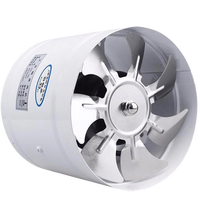 6 Inches Kitchen Bathroom Round Exhaust Fan Wall mounted Ventilating Fan High Speed Low Noise Energy Saving