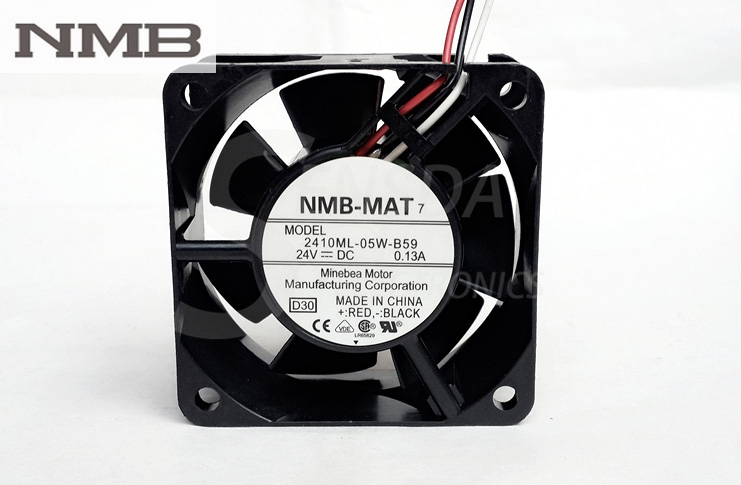 NMB 2410ML-05W-B59 DC 24V 0.13A 6025 60x60x25mm 6cm 60mm server inverter axial cooler blower cooling fans free shipping for nmb bg1203 b058 p00 l2 dc 24v 1 30a 3 wire 3 pin connector 50mm 120x120x32mm server blower cooling fan