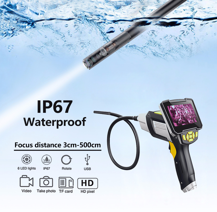 Image 4 - Antscope 1080P HD 8mm Industrial Endoscope 4.3 Inch Car Inspection Camera Handheld 1/3/5/10m Endoscope Snake Tube Hard Camera 19-in Surveillance Cameras from Security & Protection