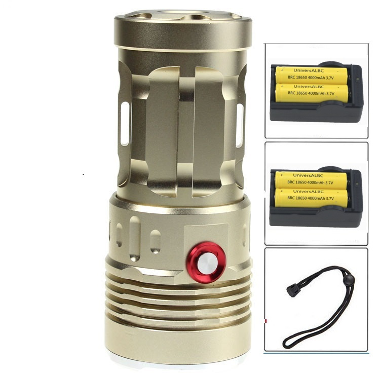 Skyray King 10000 Lumens Powerful Tactical LED Flashlight Torch 7 x CREE XM-L T6 Bike Lantern + 4x 18650 Battery + 2x Charger покрывало les gobelins накидка на кресло fleurs de jardin 70х160 см