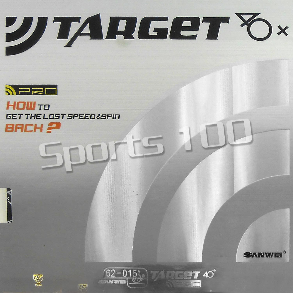 ФОТО Sanwei Europe Version TARGET 40+ Pro Pips-in Table Tennis PingPong Rubber With Black Sponge