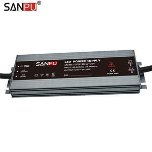 Image 2 - Sanpu led 전원 공급 장치 24 v 120 w 5a 방수 ip67 정전압 ac 24 볼트 lighitng 변압기 슬림 led 드라이버 24vdc
