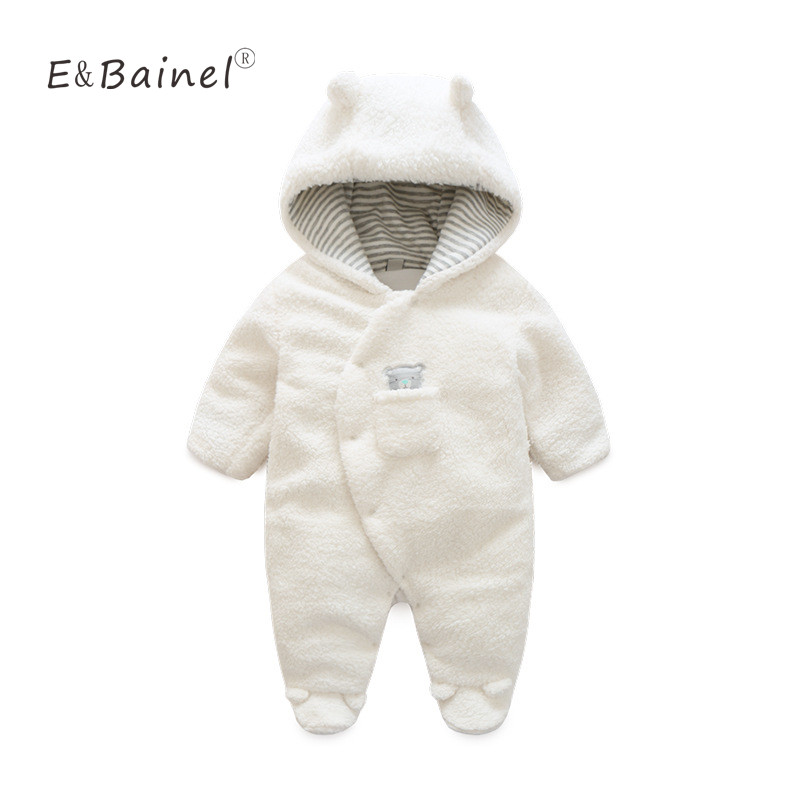 Winter Rompers Thick Climbing New Born Baby Clothes Bear Newborn Boys Girls Warm Baby Romper Costume Jumpsuit Baby Snowsuit puseky 2017 infant romper baby boys girls jumpsuit newborn bebe clothing hooded toddler baby clothes cute panda romper costumes