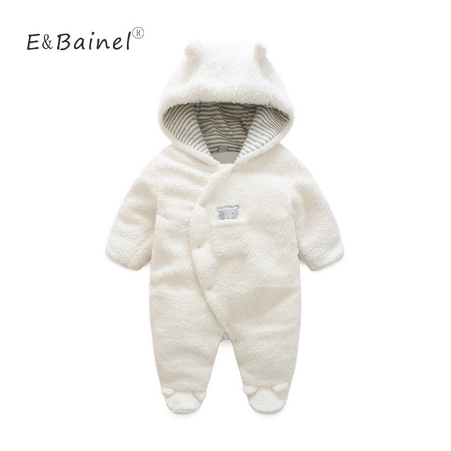 Winter Rompers Thick Climbing New Born Baby Clothes Bear Newborn