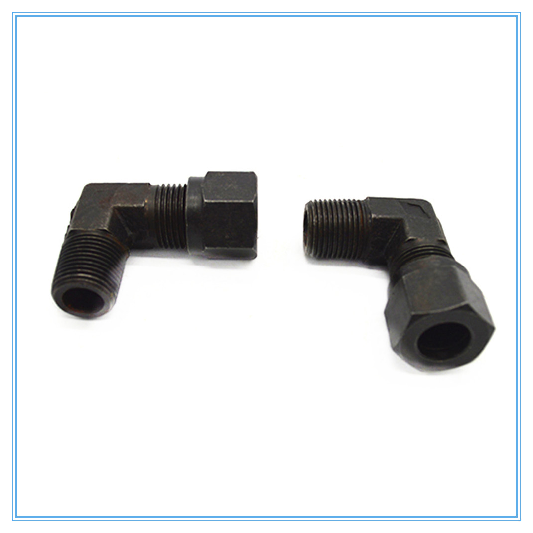 High pressure tubing transition joint hydraulic carbon steel card sleeve  elbow 16mm 1/2 male thread  Pipe Fitting-in Pipe Fittings from Home