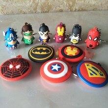 3D мультяшная фигурка ПВХ Marvel Мстители брелок милый супергерой Бэтмен человек паук брелок для ключей детский брелок подарок