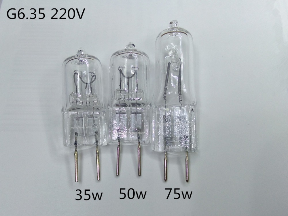 5 шт., галогеновая лампа g6.35, 220 В, 35 Вт, 50 Вт, 75 Вт, люстра, хрустальный светильник, лампа gy6.35, 220 В, 50 Вт, g6.35, 220 В, 50 Вт