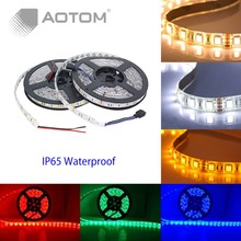 1pc 5M LED strip 5050 Waterproof 300LED DC12V Flexible LED Strip Light  RGB Cool White Warm White Blue led ruban luces led tiras