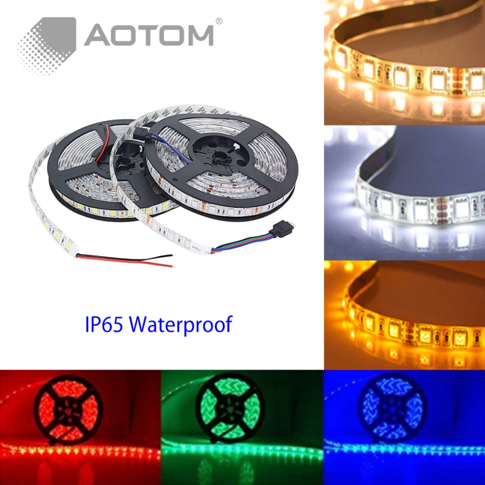 5m led strip 5050 5630 waterproof 300led dc12v flexible led strip light warm white blue yellow. Black Bedroom Furniture Sets. Home Design Ideas